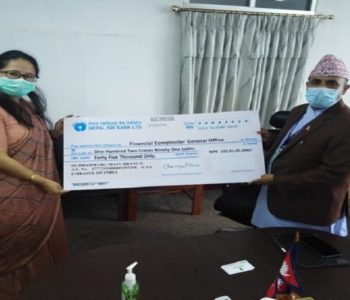 India hands over Rs 1.54 billion cheque to Nepal