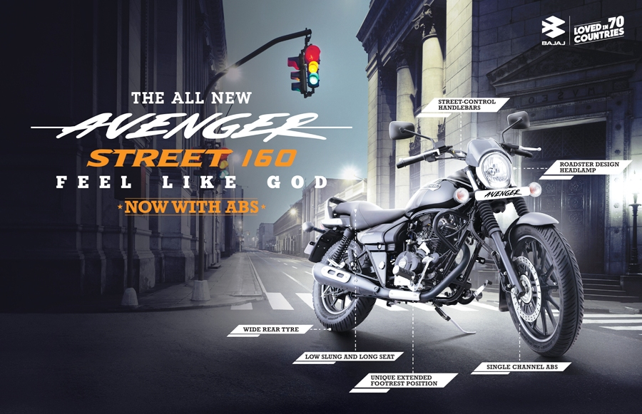 Bajaj unveils all-new Avenger Street 160 ABS in Nepal