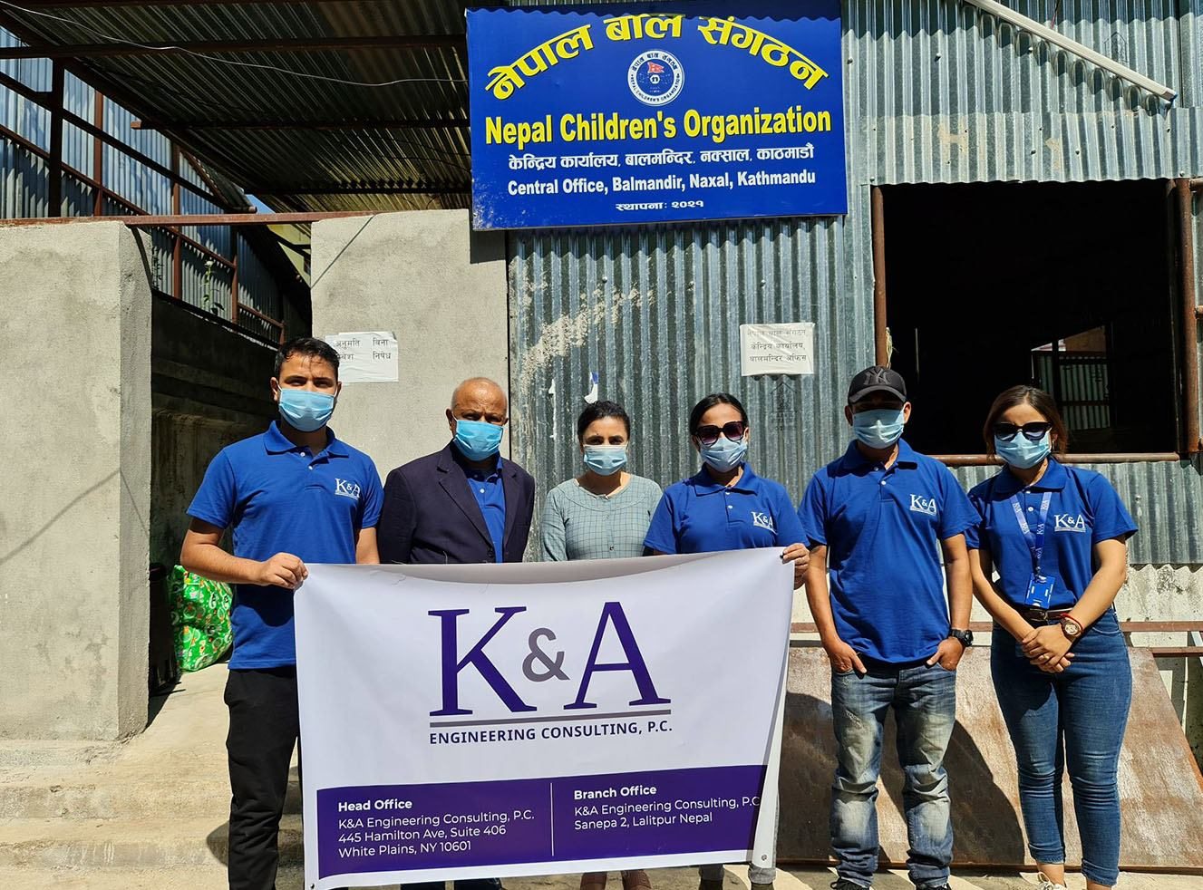 K&A Engineering Consultancy donates clothes and meals