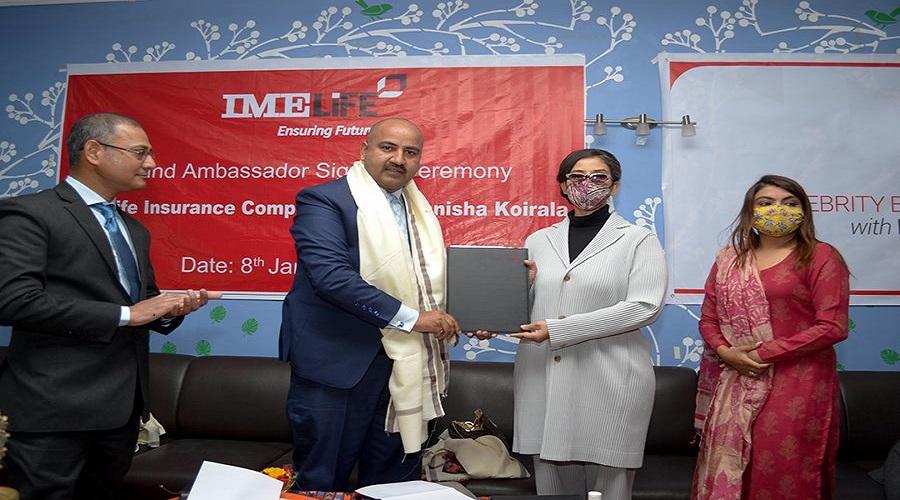 IME Life Insurance appoints actress Manisha Koirala as its brand ambassador