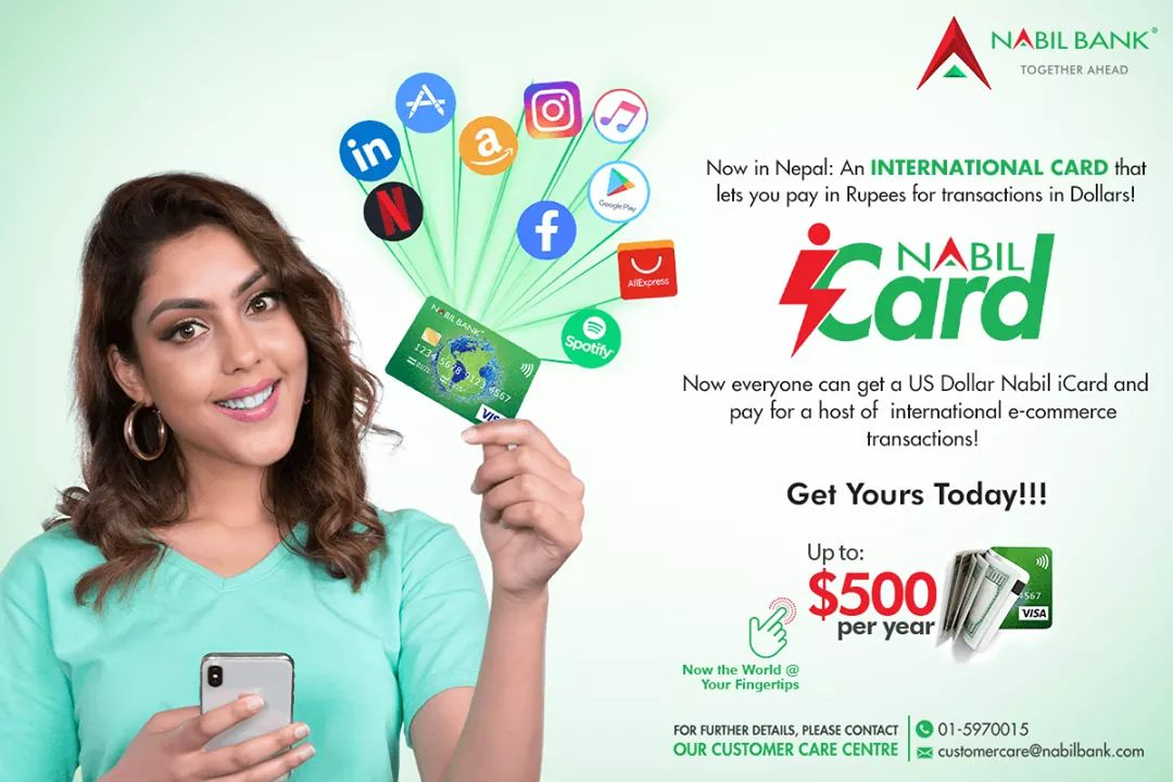 Nabil introduces Nabil iCard enabling payment of dollar transactions in rupees