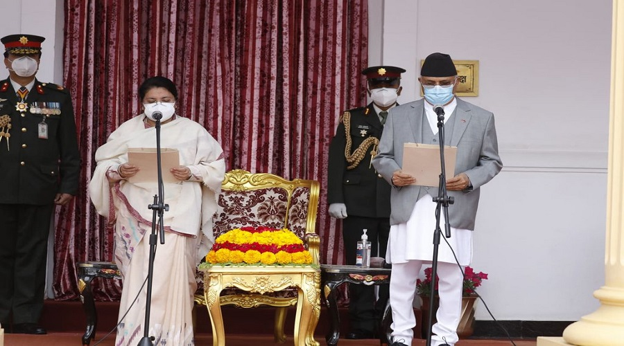 Prime Minister KP Oli takes oath of Office and Secrecy