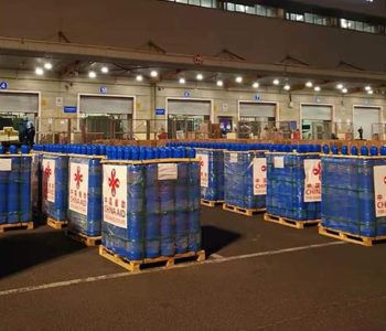 China-aided 18,000 oxygen cylinders arrive at Tatopani checkpoint