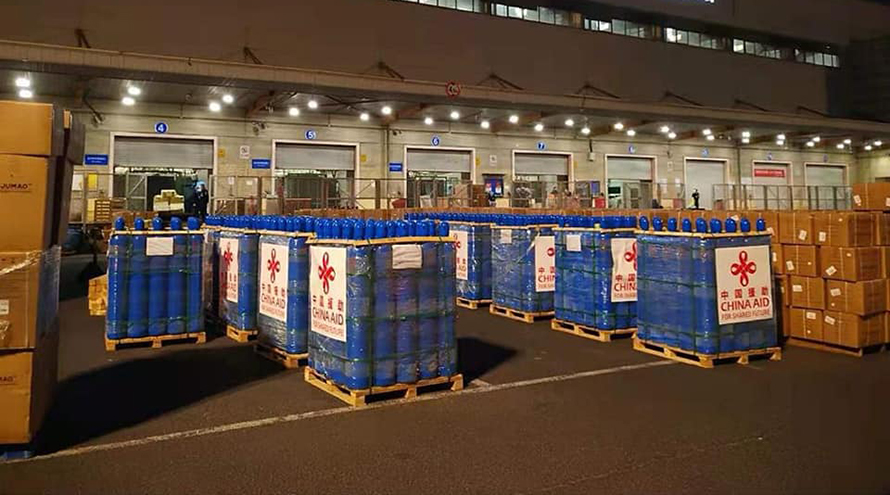 Nepal receives 400 oxygen cylinders from China