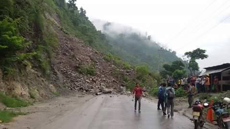 Govt forms taskforce to assess damage on roads and bridges caused by landslide and floods